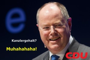 Peer Steinbrück Wahlplakat