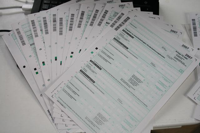 Finanzamt Formulare