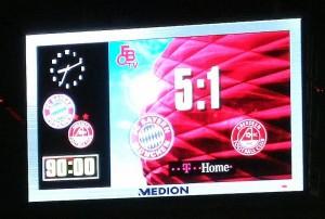 FC Bayern Anzeigetafel