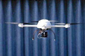 Testflug einer Drohne