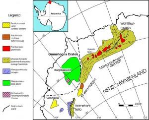 Karte Neuschwabenland