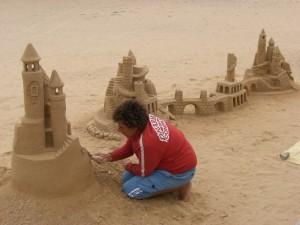 Kunstwerke aus Sand