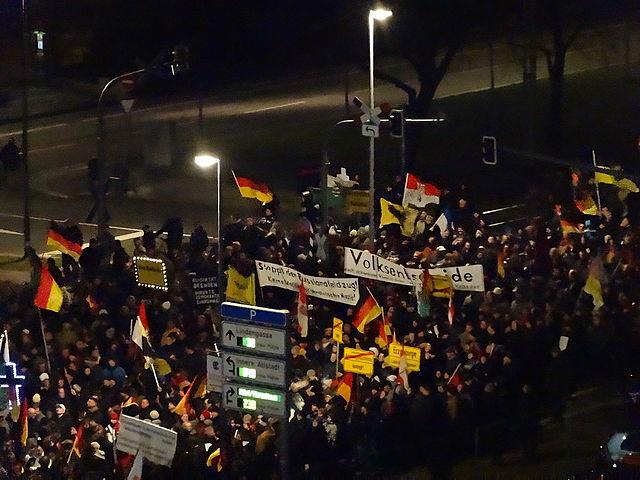 Pegidia-Demo in Dresden