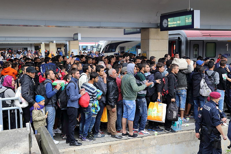 Flüchtlinge in Wien auf dem Weg nach Deutschland