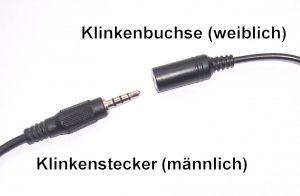 Klinkenbuchse/Klinkenstecker