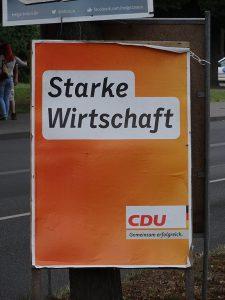 CDU Wahlplakat Wirtschaft