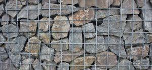 Drahtkäfig-Mauer