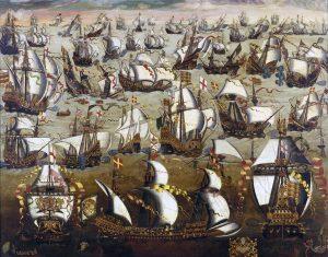Englisch Schiffe und die Spanische Armada, August 1588