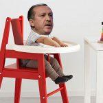 Erdogan im Hochstuhl