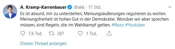 AKK Zensur Twitter