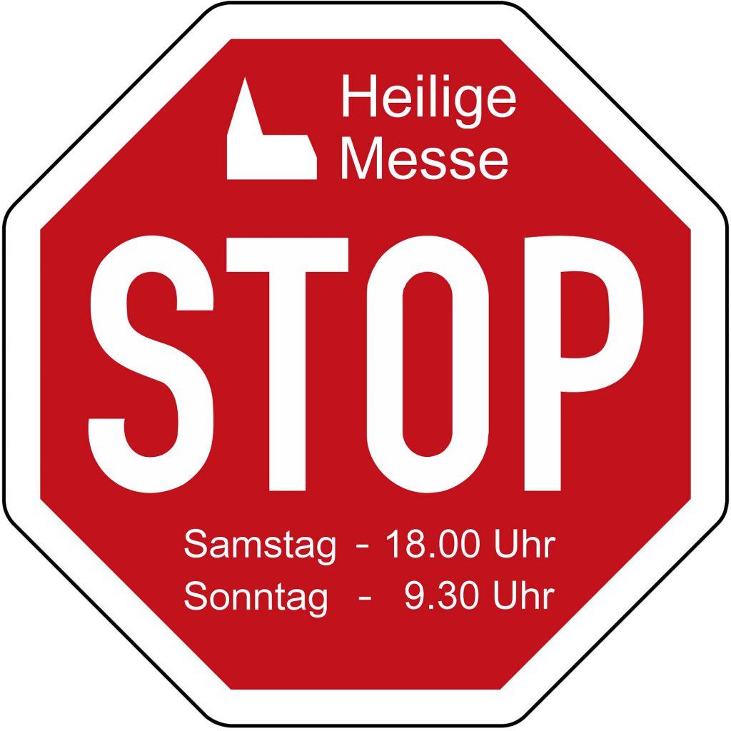 Gottesdienst-Stopschild