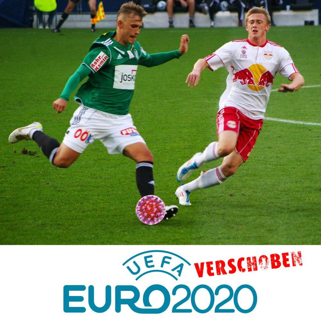 Fußball-EM 2021 mit Coronavirus-Ball
