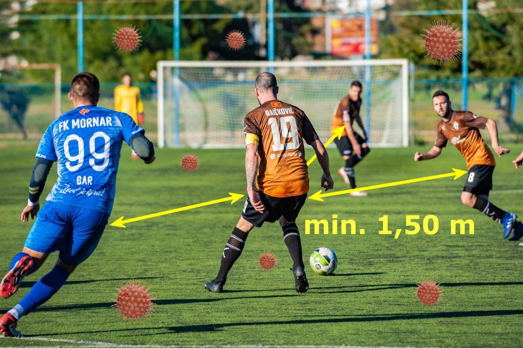 Fussball-Mindestabstand