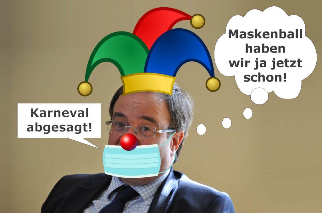 Armin Laschet Karneval abgesagt