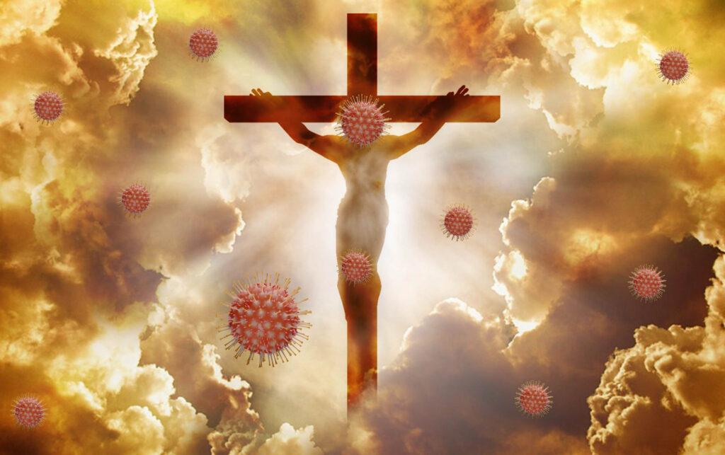 Jesus am Kreuz – Coronavirus
