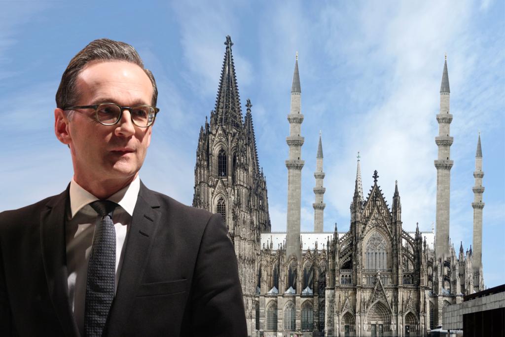Heiko Maas vor Kölner Moschee