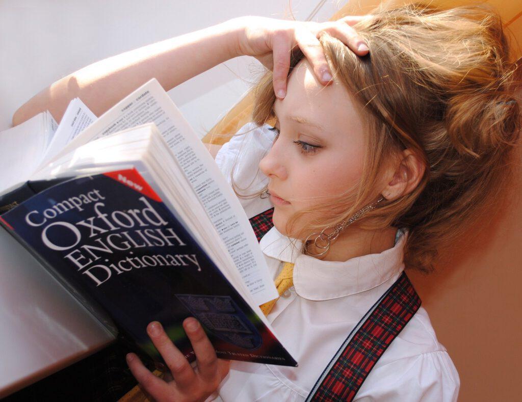 Mädchen Englisch