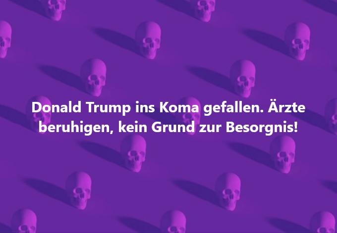 Donald Trump Koma