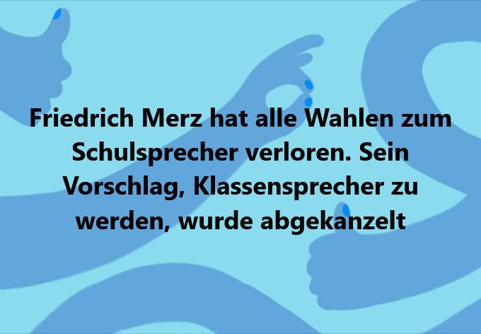 Friedrich Merz Schulsprecher