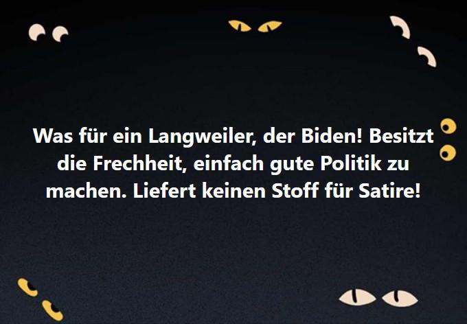 Langweiler Biden