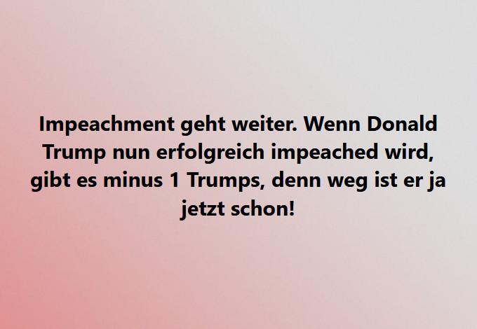 Minus eins Trumps