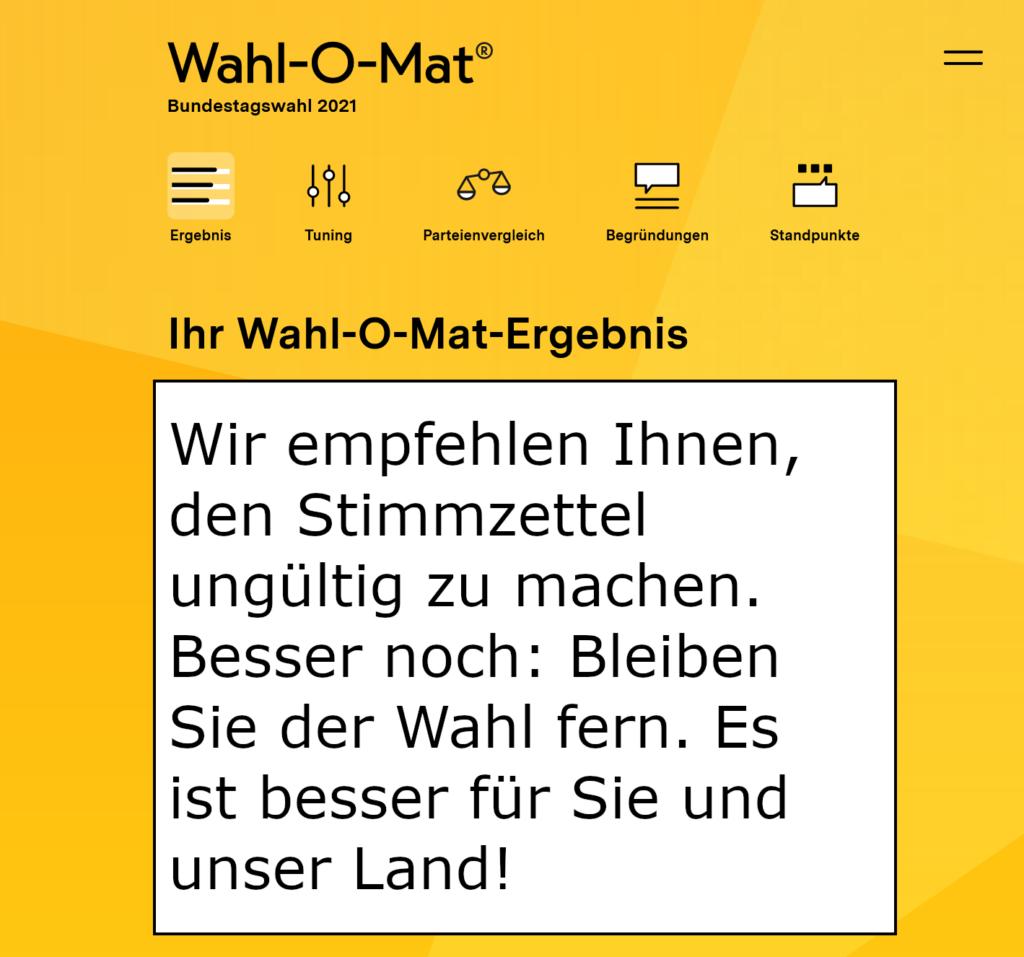 Wahl-O-Mat ungültig
